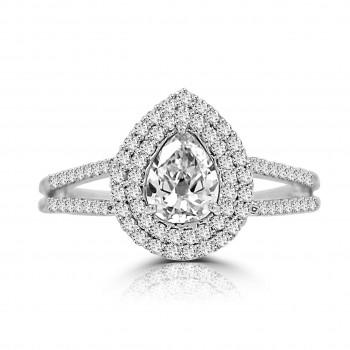 4117  -Pear Shape Diamond Halo Ring