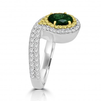 4118 - Emerald Paisley Open Ring