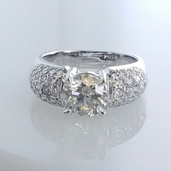 4119 - 2.01ctw GIA Natural Diamond Engagement Ring I-SI2
