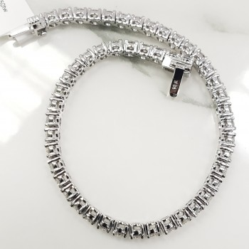 5109 - 14K White Gold Tennis Bracelet 7in 50 stones = 5.50tw G SI1 3.0mm