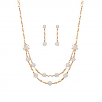 7102   -  NECKLACE SET - 18K Rose Gold
